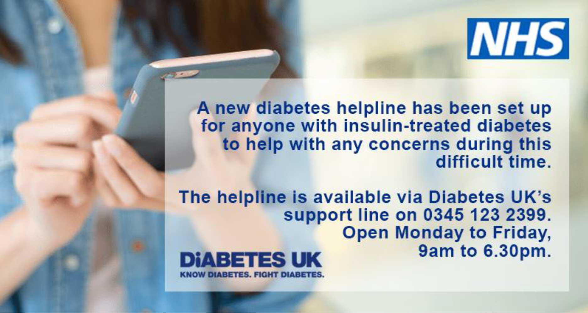 NHS Diabetes Advice helpline