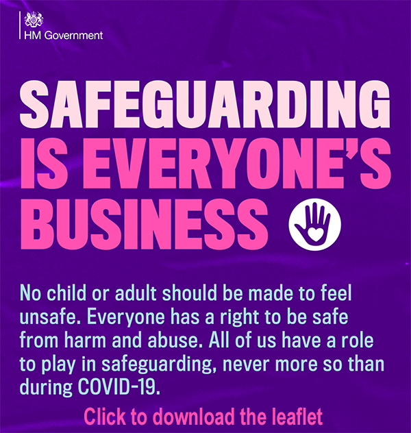 English safeguarding leaflet