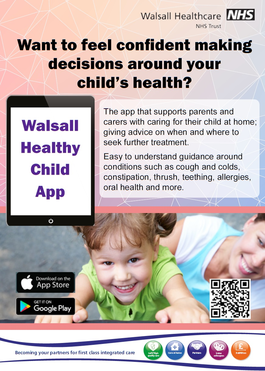 walsall healthy child app